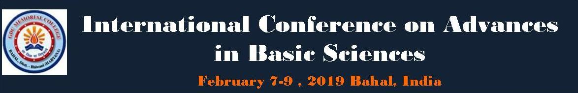International Conference on Advances in Basic Sciences (ICABS-19)